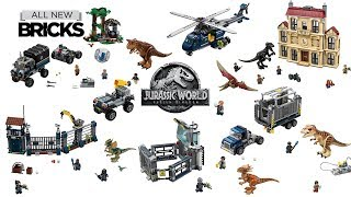 Lego Jurassic World Fallen Kingdom Compilation of All Sets