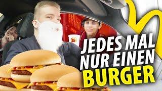 McDonalds PRANK | JEDES MAL NUR 1 CHEESEBURGER BESTELLEN!