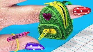 DIY Miniature Backpack That Works! 🎒MINI School Supplies!