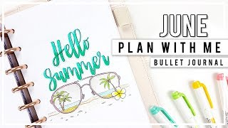 PLAN WITH ME   JUNE Bullet Journal Monthly Setup