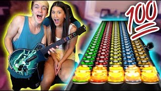 INSANE GUITAR HERO BATTLE VS MY GIRL FRIEND!