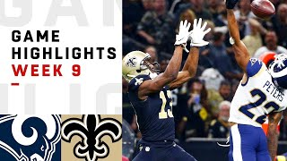 Rams vs. Saints Week 9 Highlights   NFL 2018