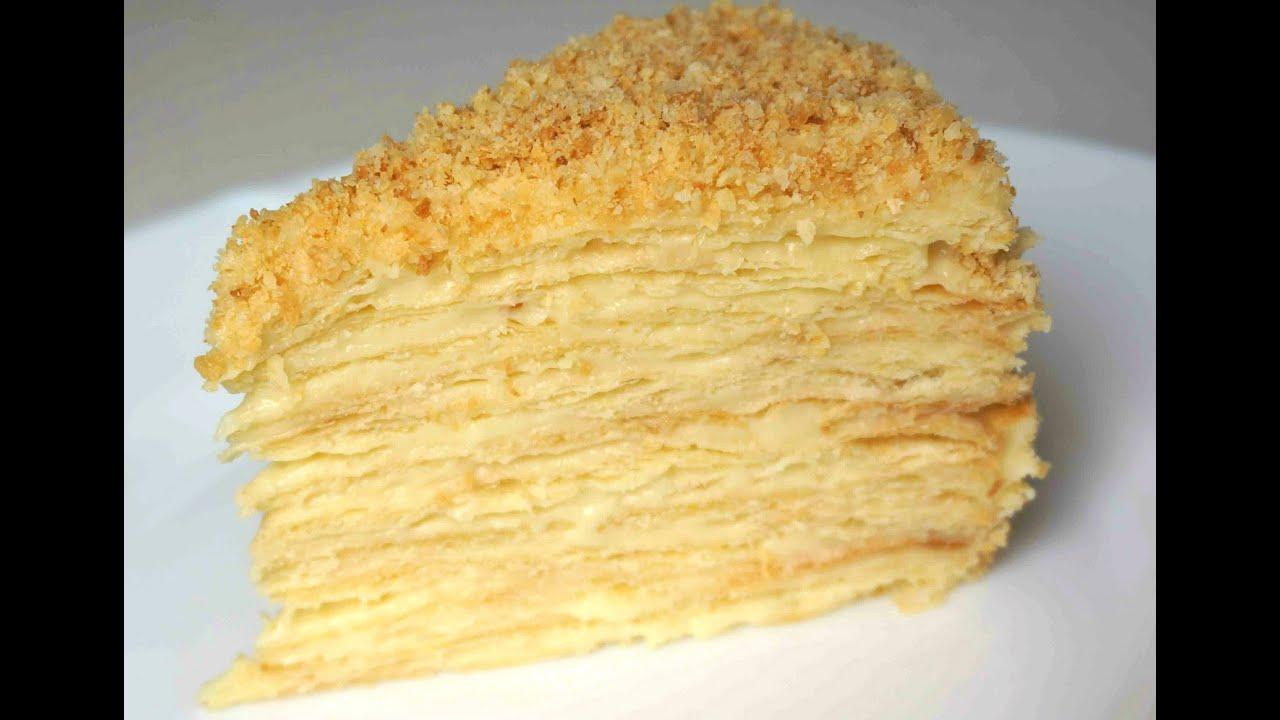 рецепты тортов с фото наполеон пошагово
