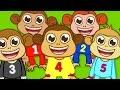 Beş Küçük Maymun | Sevimli Dostlar |...mp3