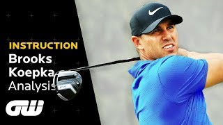 How Brooks Koepka CRUSHES Perfect Drives Every Time   Swing Analysis   Golfing World
