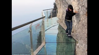 The SCARIEST Viewpoint in China | 100-meter-long Glass Walkway | COILING DRAGON CLIFF SKYWALK