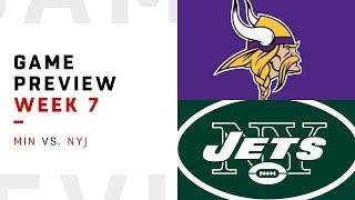 Minnesota Vikings vs. New York Jets | Week 7 Game Preview | NFL Playbook