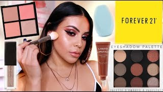 FOREVER 21 MAKEUP FIRST IMPRESSIONS: SO MANY GREAT PRODUCTS + BRUSHES! | JuicyJas