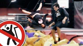 Trampolin Challenge | CrispyRob feat. Julien Bam