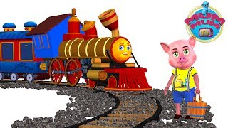 Piggy On The Railway Line Poem Lyrics - English Nursery Rhymes Songs for Kids/Children | Mum Mum TV