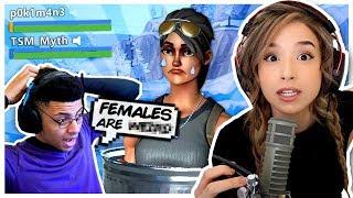 TSM Myth said Females are WHAT?! Fortnite Duos - Pokimane!