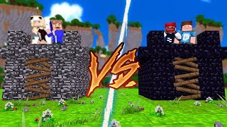 BEDROCK BASE VS. OBSIDIAN BASE!