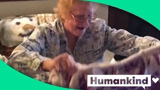 Grandma faces chemo wrapped in the arms of her late husband