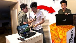 I Destroyed a Kids FORTNITE Gaming Setup & SURPRISED Him w/ a NEW One!!
