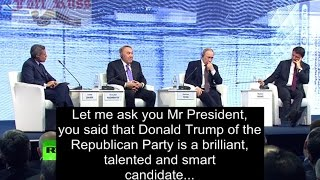 Putin on Donald Trump and US elections