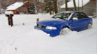 "500 hp Audi S4 quattro vs 12""+ of fresh snow!  Unstoppable..."