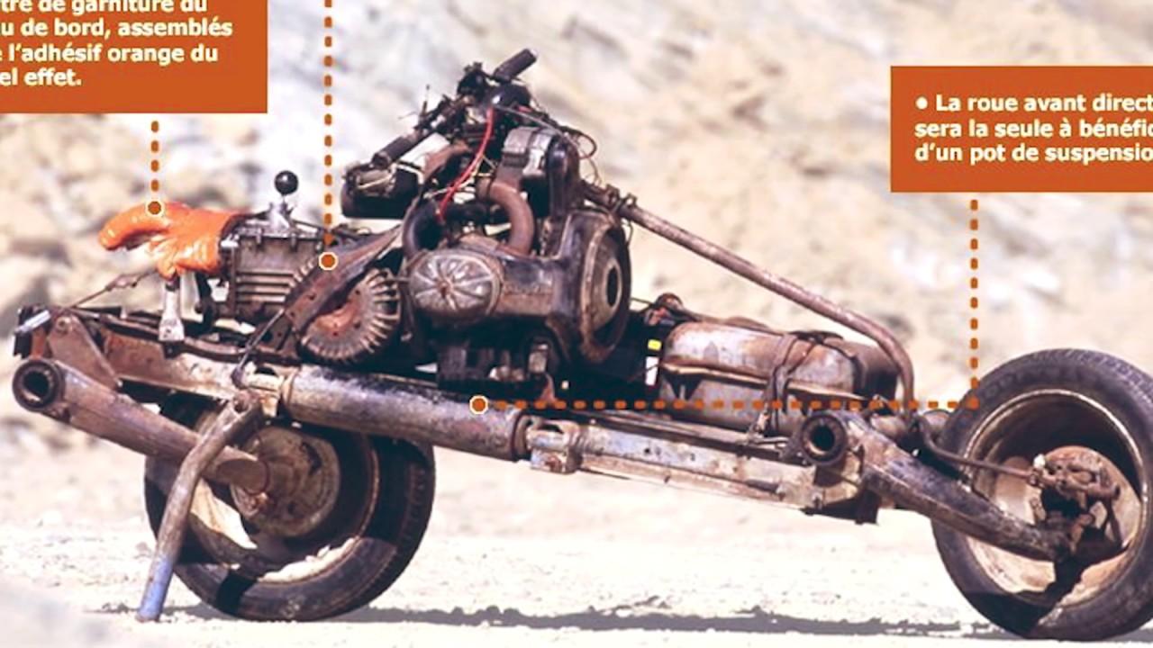Мотоцикл из машины