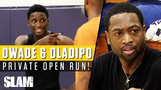 Dwyane Wade & Victor Oladipo WENT AT IT in Private NBA Run with #RemyWorkouts!🔥