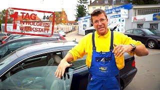1 Tag in Holgers Werkstatt - Teil 4   Wo ist das Kühlwasser-Leck im Benz & Holgers Entschuldigung