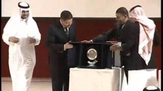تكريم العالم الكبير الدكتور أحمد زويل  وتكريم الدكتور علاء يوسف المدير التنفيذي لشركة INTEC