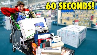 Little Brother Gets 60 SECONDS To Grab EVERYTHING For FREE Challenge