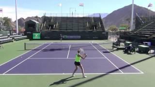 Karolina Pliskova 2017 BNP Paribas Open Practice 1080 HD