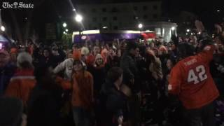 Clemson student to react to touchdown that takes the lead over Alabama national championship