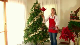 Decorating a prelit Christmas Tree in a Hurry