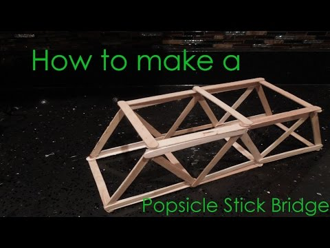 Building A Truss Bridge With Toothpicks Woodworking