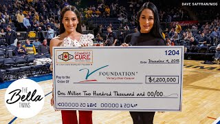 The Bella Twins & WWE help fight pediatric cancer at the Jimmy V Classic!