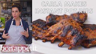 Carla Makes Instant Pot Ribs | From the Test Kitchen | Bon Appétit