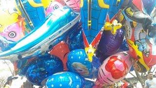Mainan Anak Dari Balon SpongeBob, Hello Kitty, Barbie princess