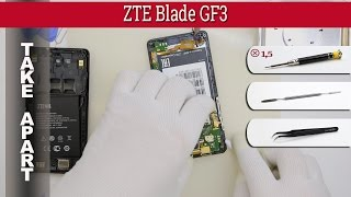 How to disassemble 📱 ZTE Blade GF3 (ZTE T320 / ZTE Blade Q Pro) Take apart Tutorial