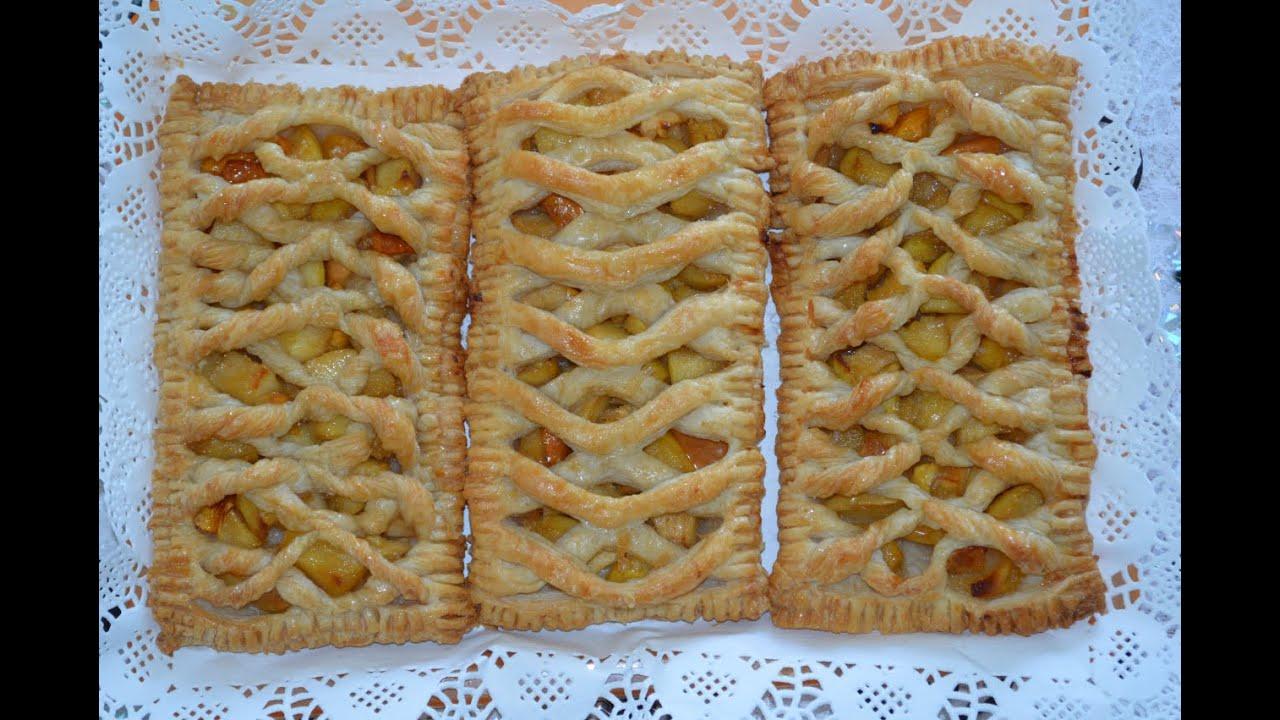 Слоеные пирожки с яблоками рецепт пошагово