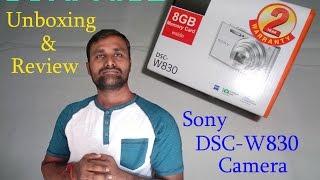 Unboxing sony DSC- W830