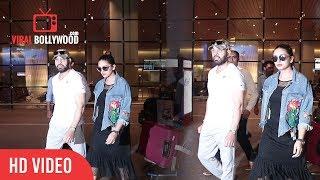 Huma Qureshi And Shera Salman Khan Bodyguard Spotted At Mumbai Airport | Viralbollywood