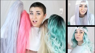 Wig Haul and Review - Trying on Wigs For The First Time
