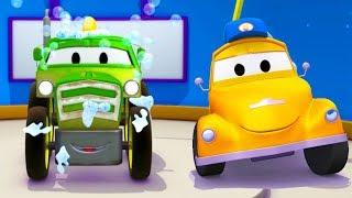 Tom und Toms Autowaschanlage und Ben der Traktor | Lastwagen Zeichentrickfilme für Kinder