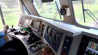 [IRFCA] Inside Rajdhani Express Locomotive, Ultimate Cab Ride in WDP4D Engine