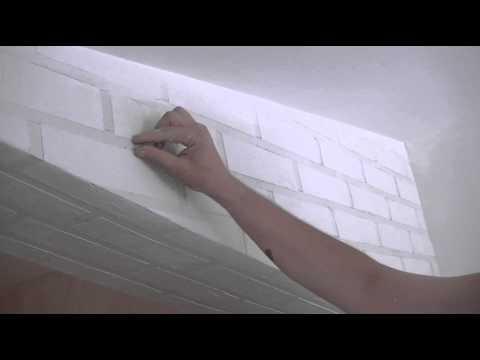 Стены под кирпич видео