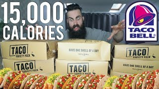 The Ultimate Taco Bell Variety Pack Challenge (15,000 Calories) | BeardMeatsFood