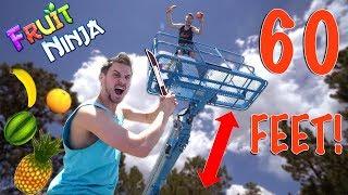 FRUIT NINJA 60FT DROP CHALLENGE!