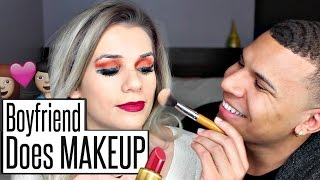 BOYFRIEND Does My Makeup! | Sylvia Gani