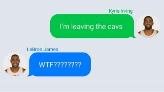 LeBron James Texting Kyrie Irving After Trade Request