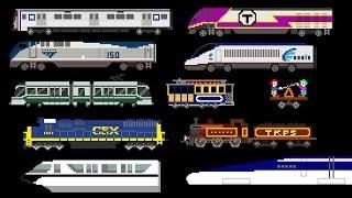 Railway Vehicles - Trains and Subways - The Kids