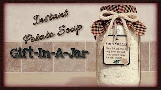 Instant Potato Soup Gift-In-A-Jar
