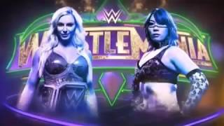 WWE Wrestlemania 34 Charlotte Flair vs Asuka Official Match Card