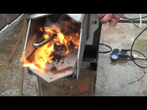 Пеллетная горелка видео