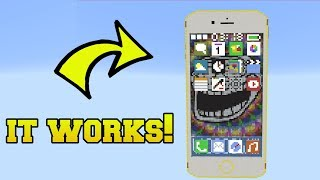 REAL IPHONE WITH WORKING APPS IN MINECRAFT!!