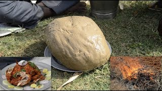 Baking Chicken packed in Clay | Ancient Cooking